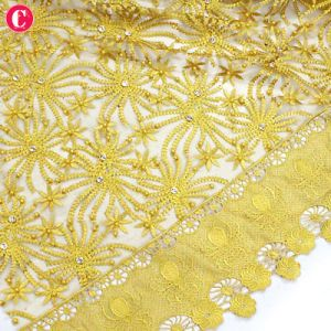 New Arrival 3D Lace Fabric with Stones pictures & photos