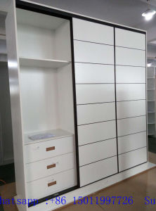 Melamine MDF Sliding Door Wardrobes (many colors) pictures & photos