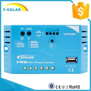 Epever 10AMP 12V/24V USB-5V/1.2A Solar Panel/Power Controller Ls1024EU pictures & photos