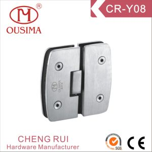 Unique 180 Degree Glass to Glass Arc Shower Hinge with High Quality (CR-Y08) pictures & photos