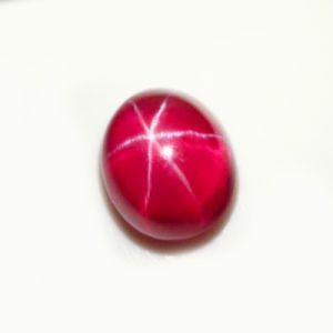 Loose Cabochon Cut Synthetic White Star Ruby Gemstone pictures & photos