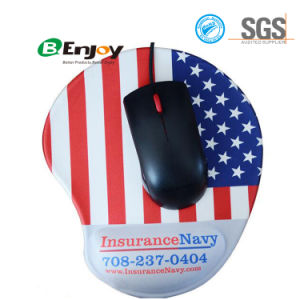 Custom Logo Ergonomic Gel Mouse Pad with Wrist Rest Support pictures & photos