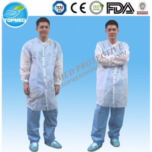 Paper Lab Coats Nonwoven Microporous Lab Coat pictures & photos