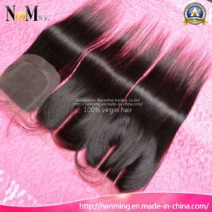 Peruvian Straight/ Body Wave/ Loose Wave/ Deep Wave Curly Silk Base Lace Top Closure pictures & photos
