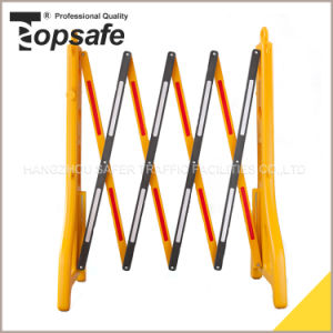 Yellow Black Plastic Extendable Barrier (S-1643) pictures & photos