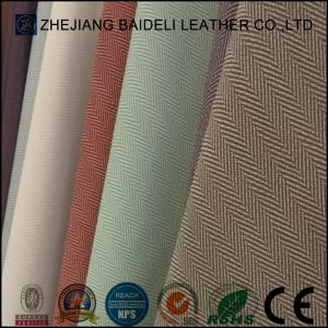 Cloth Pattern Lady Bag Synthetic Leather with Good Abrasion Resistance pictures & photos
