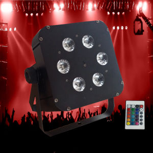 Factory Price 6PCS Rgbawuv 6in1 Battery Powered LED PAR Lamp