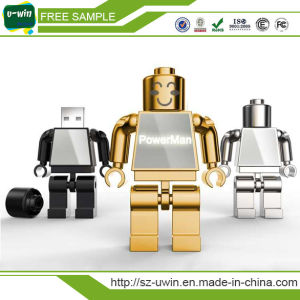 Hot Selling Branded Metal Stick Robot Shaped USB Flash Pen Drive pictures & photos