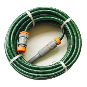 15m (50′) Double Layer Reinforced PVC Garden Water Hose with Braided Polyester Thread pictures & photos