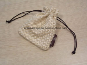 Cotton and Linen Drawstring Gift Bag pictures & photos
