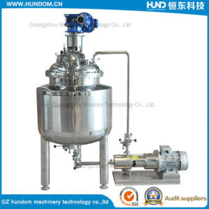 Stainless Steel Mixing Tank with Emulsifying Pump for Cream pictures & photos