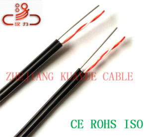 Telephone Cable China Filled Drop Wire 2pair Messenger/Computer Cable/ Data Cable/ Communication Cable/ Connector/ Audio Cable pictures & photos