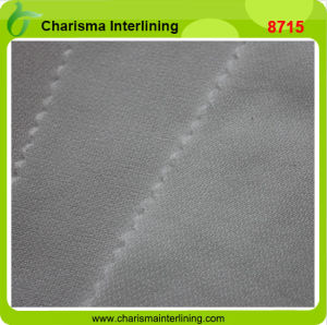 Garment Twill Weave Woven Fusible Interlining Fabric for Lady′s Wear pictures & photos