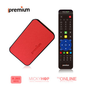 Ipremium Tvonline+ Leather Material Smart TV Set Top Box Android TV Box with Mickyhop System Quad Core WiFi IPTV Smart TV Box pictures & photos