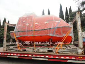 9.6m Marine Totally Enclosed Lifeboat for Lifesaving, Solas FRP Lifeboat pictures & photos