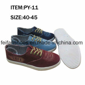 OEM Footwear Men Leisure Shoes Injection Canvas Shoes Factory (FFPY0415-03) pictures & photos