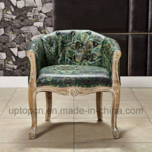 Elegant Living Room Chair with Emerald Upholstery and Armrest (SP-HC064) pictures & photos