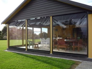 PVC Transparent Film for Awning, Patio, Blinds & Shades pictures & photos