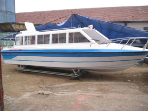 15-20seats Fiberglass Passenger Boat with Outboard Engine pictures & photos
