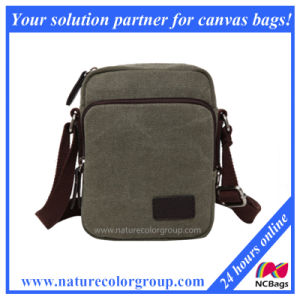 Canvas Messenger Bag with Leather Trim pictures & photos