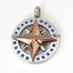 Stainless Steel Pendant Compass (PD589)