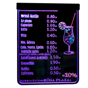 Smart LED Writing Board Order Menu Sign   (WB-02)