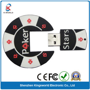 Creative Poker PVC 1GB USB Flash Disk pictures & photos