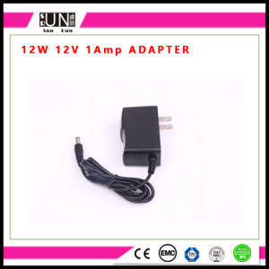 12W LED Adapter, DC12V 1A Adapter, 12W Adaptor, 12V Wall Charger, AC/DC LED Power Adapter pictures & photos