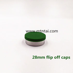 28mm Flip off Caps in Green Color pictures & photos