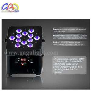 12*18W 6in1 Rgbawuv Battery Powered Wireless Freedoom LED PAR pictures & photos