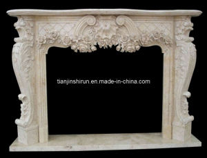 Travertine Stone Fireplace (XF305) pictures & photos