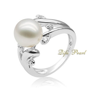 18k Gold Ring With Southsea Pearl and Diamonds (PR706027)
