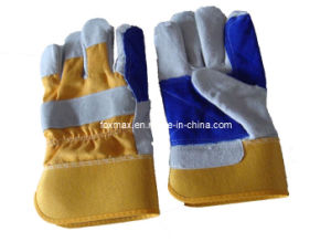 Cow Split Leather Gloves pictures & photos
