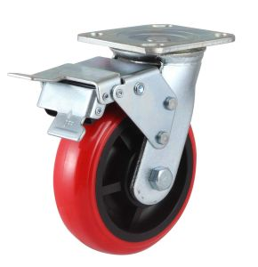 Fixed Wheel PU Caster (Round) pictures & photos