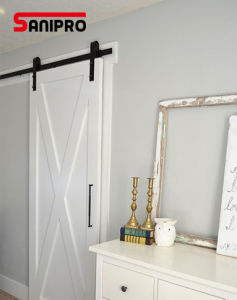 Black Carbon Steel Wood Interior Sliding Barn Doors Hardware pictures & photos