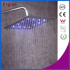 Fyeer 12 Inch Ultrathin Brushed Shower Head LED Overhead Shower pictures & photos
