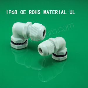 Plastic Elbow Cable Gland, PG Series, Nylon6, Waterproof, Dustproof, IP68, CE, RoHS