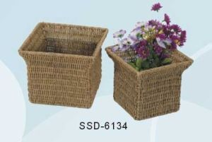 Baskets for Storage Made From Seagrass in Natural Color (SSD-6134)
