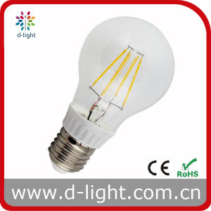 A60 6W (Replacement 60W) E27 Plastic Global LED Filament Bulb Lamp
