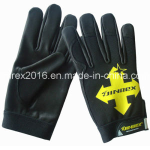 Promotion Mechanical Goat Skin Palm Working Safety Protection Gloves pictures & photos
