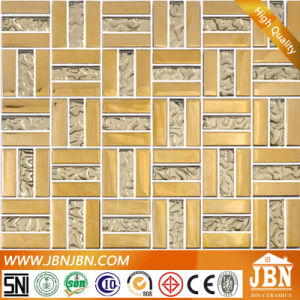 Weaving Shape Glod Color Living Room Wall Glass Mosaic (G658007) pictures & photos