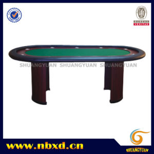 10 Person Poker Table with Wooden Leg (SY-T13) pictures & photos