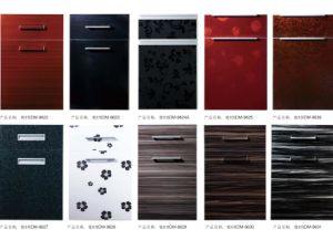 Wooden MDF Kitchen Cabinet Doors with Edge Banding (zhuv) pictures & photos