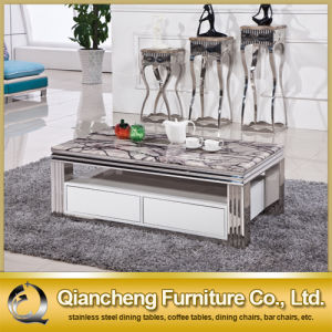 Hot Selling Model Modern Coffee Table with Drawer pictures & photos