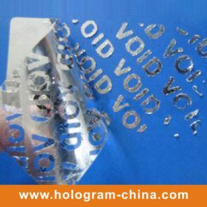 Aluminum Embossing Tamper Evident Void Foil pictures & photos