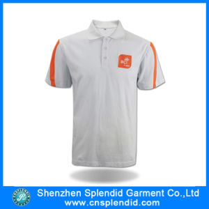 Man New Design White 100%Cotton High Quality Men′s Polo Shirt