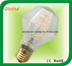 A19 Diamond 4W LED Filament Bulb pictures & photos