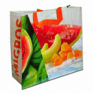 Reusable Shopping Cmyk Full Color Laminated PP Woven Bag pictures & photos