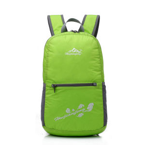 Wholesale Black Nylon Foldable Travel Backpack pictures & photos