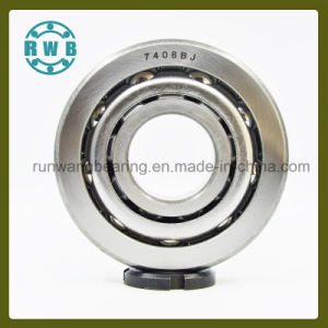 Single Row Angular Contact with The Iron Cage Bearings, Roller Bearings, Factory Production (7408BJ)